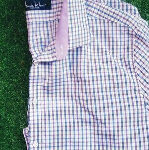 Men's Nicole Miller casual buttondown shirt size L